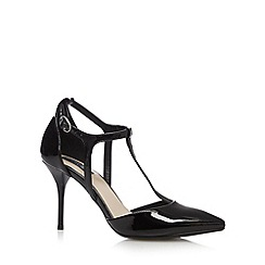 Principles by Ben de Lisi - Designer black patent T-bar high court shoes