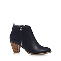 Nine by Savannah Miller - Navy blue 'Samantha' ankle boots