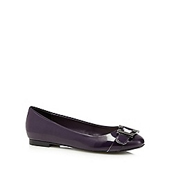 Principles by Ben de Lisi - Purple patent buckle detail pumps