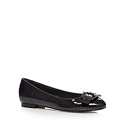 Principles by Ben de Lisi - Black patent buckle slip on shoes
