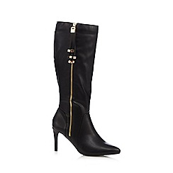 Principles by Ben de Lisi - Black zip tasselled knee high stiletto boots
