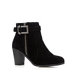 Principles by Ben de Lisi - Designer black textured suedette buckle ankle boots