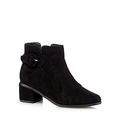 Principles by Ben de Lisi - Black suedette buckle mid ankle boots