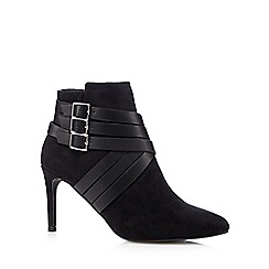 Principles by Ben de Lisi - Black suedette belted ankle boots