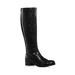 J by Jasper Conran - Black leather high leg boots