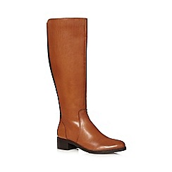 J by Jasper Conran - Tan leather high leg boots