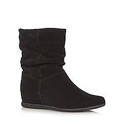 Nine by Savannah Miller - Black 'Sally' suede flat ankle boots