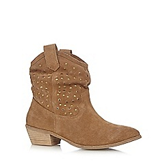 Nine by Savannah Miller - Tan 'Savannah' suede ankle boots