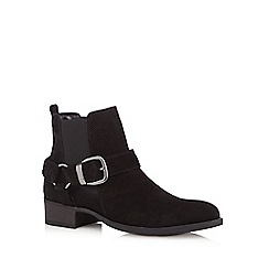 RJR.John Rocha - Designer black leather buckle chelsea boots