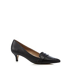 J by Jasper Conran - Designer black leather blend mid court shoes