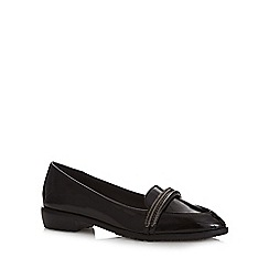 H! by Henry Holland - Black patent chain detail loafer shoes