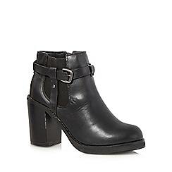 H! by Henry Holland - Black high block heeled Chelsea boots