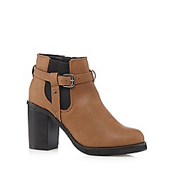 H! by Henry Holland - Tan high block heeled Chelsea boots