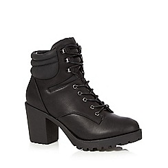 H! by Henry Holland - Black lace up high boots
