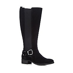 RJR.John Rocha - Black suede buckle detail high leg riding boots