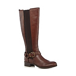 RJR.John Rocha - Tan leather plaited high leg boots