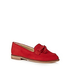J by Jasper Conran - Dark red suede tassel slip on shoes