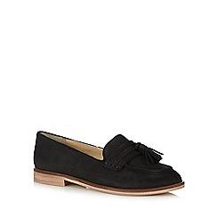 J by Jasper Conran - Black suede tassel slip on shoes