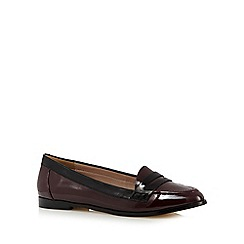 J by Jasper Conran - Dark red patent loafers