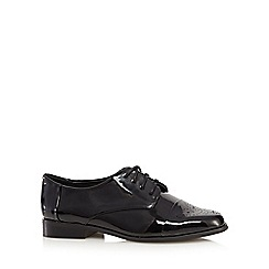 J by Jasper Conran - Black patent lace up shoes
