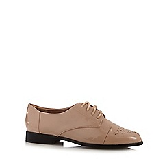 J by Jasper Conran - Natural patent lace up shoes