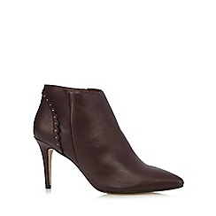 Nine by Savannah Miller - Maroon 'Selene' heeled ankle boots