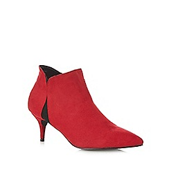 Principles by Ben de Lisi - Red suedette mid stiletto ankle boots