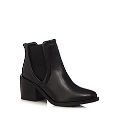 RJR.John Rocha - Designer black leather mid ankle boots