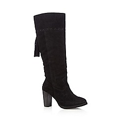 Nine by Savannah Miller - Black 'Sabrina' suede knee high boots
