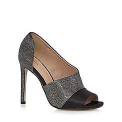 J by Jasper Conran - Silver glittery peep toe high heeled court shoes
