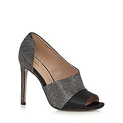 J by Jasper Conran - Silver glittery peep toe high heeled court shoes