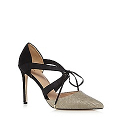 J by Jasper Conran - Gold textured high heeled sandals