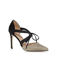 J by Jasper Conran - Gold textured high heeled sandals