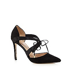 J by Jasper Conran - Black suedette high heeled sandals