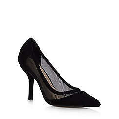 J by Jasper Conran - Black mesh high heeled court shoes
