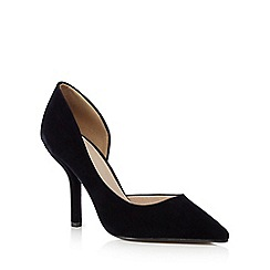 J by Jasper Conran - Navy velvet high heeled court shoes