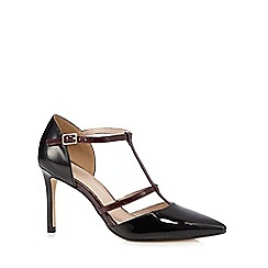 J by Jasper Conran - Black patent T-bar high heeled court shoes