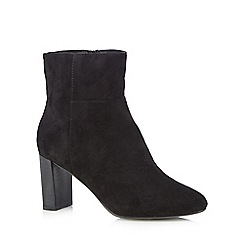 J by Jasper Conran - Black suedette high heeled ankle boots