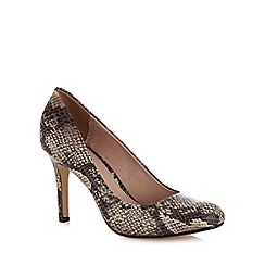 J by Jasper Conran - Natural snakeskin-effect high heeled court shoes