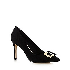 J by Jasper Conran - Black buckle court shoes