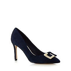 J by Jasper Conran - Navy buckle court shoes