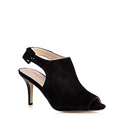 J by Jasper Conran - Black peep toe suede shoe boots