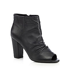 RJR.John Rocha - Black leather peep toe boots