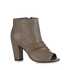RJR.John Rocha - Grey leather peep toe boots
