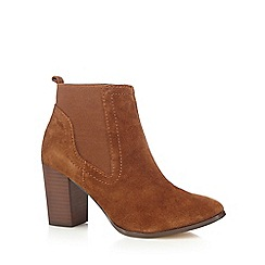 RJR.John Rocha - Tan suede mix high Chelsea boots