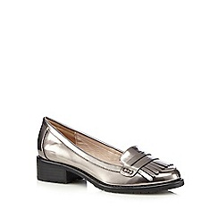 RJR.John Rocha - Silver fringed loafers