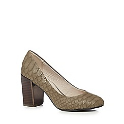 RJR.John Rocha - Grey croc textured court shoes