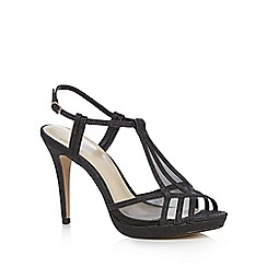 No. 1 Jenny Packham - Black glitter high sandals