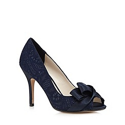 No. 1 Jenny Packham - Navy peep toe heels