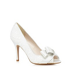 No. 1 Jenny Packham - Ivory peep toe heels